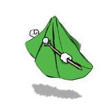 緑の布的モンスター。