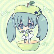 (´~`)もぐもぐ青りんご味グミ
