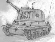 三式中戦車 ガールズ&パンツァー出演記念。