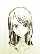オリジナル シャーペン画  女の子
