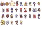 デフォルメキャラクター素材 181-213