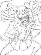 【ワンピース】咲かせてみせようオカマ道オカマウェ~イ!!【ぬりえ】