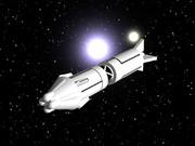 宇宙船(船首部に主推進器あり)