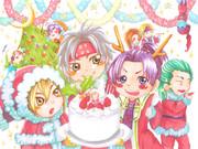 義トリオとメリークリスマス!