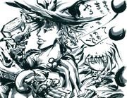 【色紙リクエスト】 ジョセフ&魔理沙 【こみトレ21】