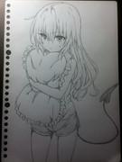 【かわいすぎて】ナナを模写してしまった!