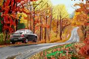 【インプレッサ】 木枯らしドライブ 【紅葉】