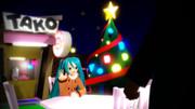 クリスマスイブの夜はミクさんとデート(*´∀`*)