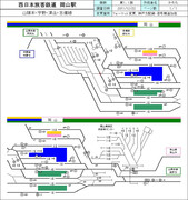 JR西日本 岡山駅配線図