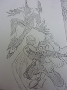 【よぉ】E・HEROスパークマン&バブルマン描いてみた