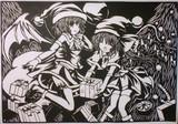 【切り絵】スカーレット姉妹サンタクロース【☆MerryXmas☆】