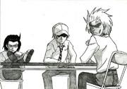 男子高校生の日常 生徒会 模写してみた