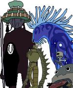 ジブリのキャラクター達