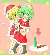 ルーミアと大ちゃんとクリスマス