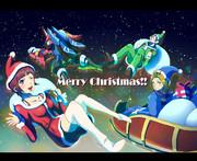 クリスマス絵です。