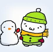 マウス絵「冬(´・ω・`)」