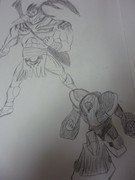 【よぉ】E・HEROワイルドマン&クレイマン描いてみた