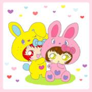 Hello kitty Colorful Bunny☆mao&annie