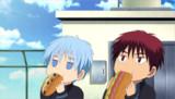 【GIFアニメ】黒子と火神がモグモグしてるだけ【トレス】