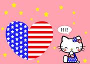 キティ ~星条旗柄 壁紙02~