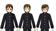 【MMD】モブ男君用の新規の顔パーツ【PMCA】