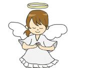 マウスで描いた『天使の女の子』