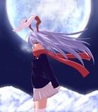 冬場の月兎