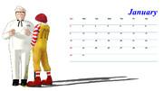 1月用カレンダー(新春初静画)