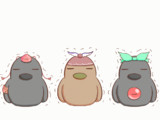 【GIFアニメ】トリプル鳥ぷる