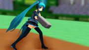 【MMD】エッちゃん、怒りのベース投げ!【アクセサリ配布】