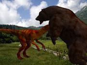 ヒグマVS恐竜