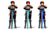 【MMD】赤い髪の人の剣を作ってみた