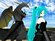 龍の巫女と竜人【MMDファンタジー】