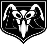 仮面ライダー1号、仮面ライダー2号のライダーズクレスト(白抜き)