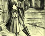黒目がちな少女