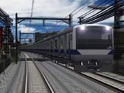 【RailSim】本日の自家製E531の寒空仕上げ