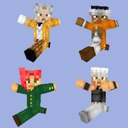 【Minecraft】(3部)ジョセフ・アヴドゥル・花京院・ポルナレフ【jojo】