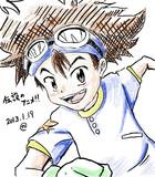 """【2013.1.19】""""八神太一""""描いたった【デジモンアドベンチャー】"""