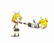 【GIFアニメ】リンちゃんとレンくん
