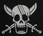 シャンクス海賊旗 切り絵