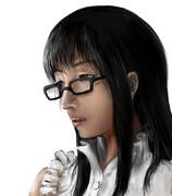 メガネ装備栞子さん