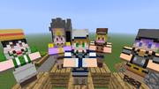 【Minecraft】村人スキン可愛くしてみました