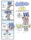 ねこみみととり:雪だるま