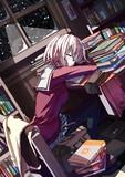 図書館で居眠り