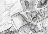 受験生が鉛筆一本で授業中に描いた絵シリーズ9(ジム・コマンド)