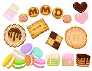 MMD用お菓子パーツ(配布)