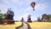 【MineCraft】風車のある小麦畑