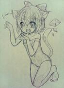 チルノ×スク水×猫耳