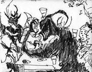 魔物達と食事会