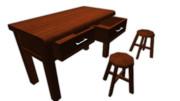 机と椅子【MMDモデル配布】